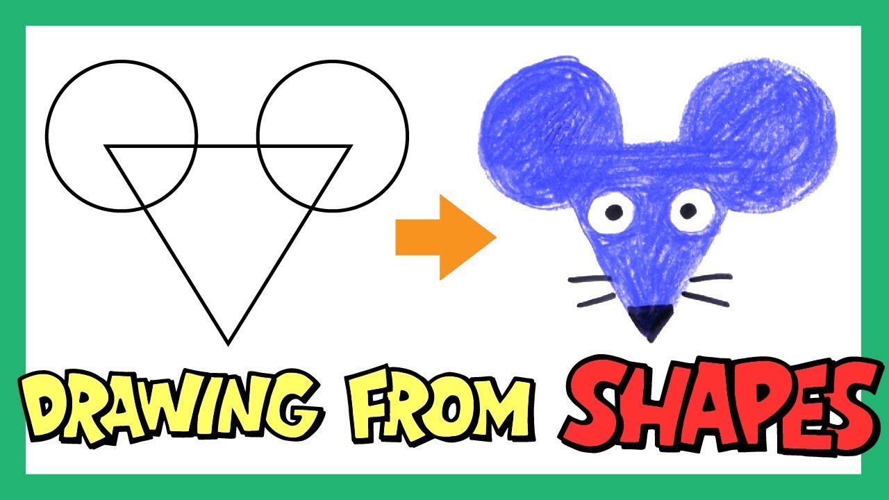 Drawing Shapes for Kids | Drawing Animals with Shapes | Learn Shapes and Colors | OKIDOKIDS