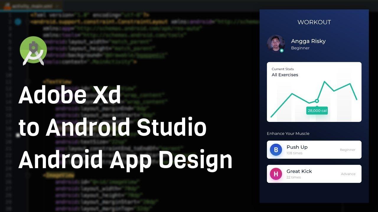 Workout UI Design - Adobe Xd to Android Studio Tutorial