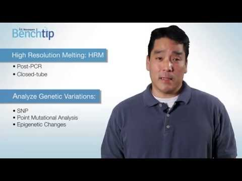Bench Tip Video: Analysis of Genetic Variations with High Resolution Melting
