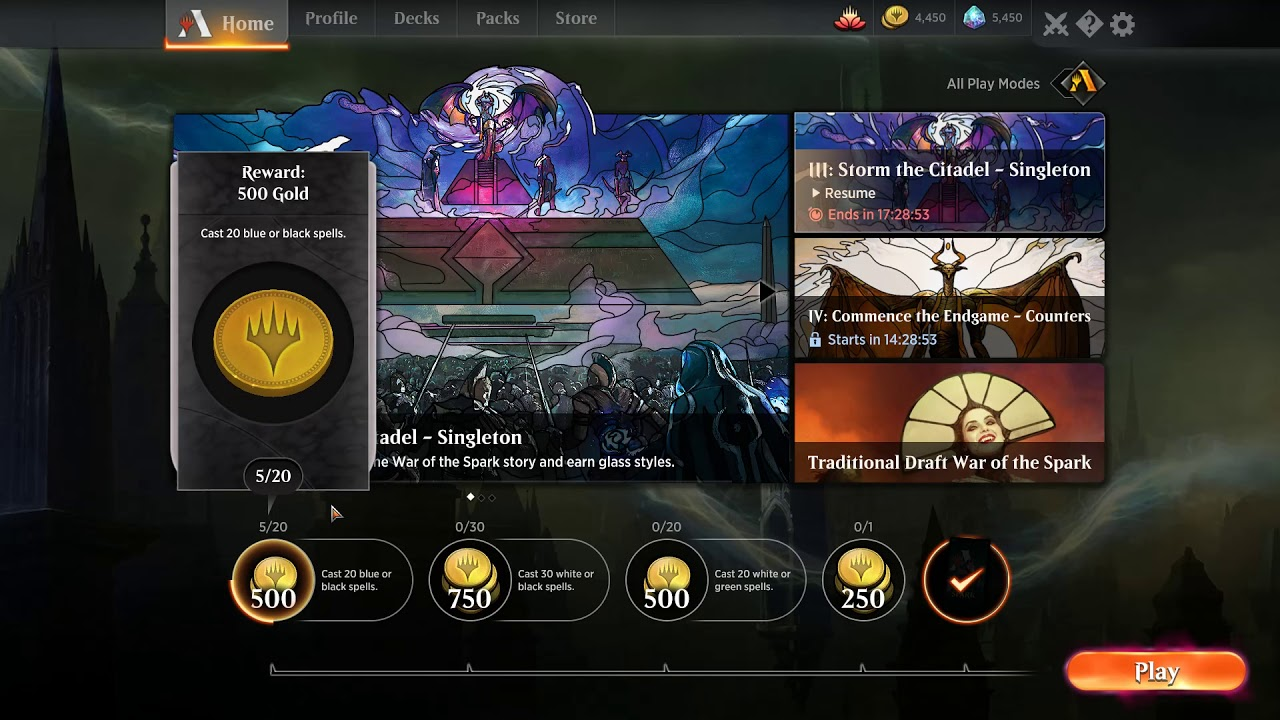 55 46 MB] Best/Most Efficient way to get Gold in MTG Arena