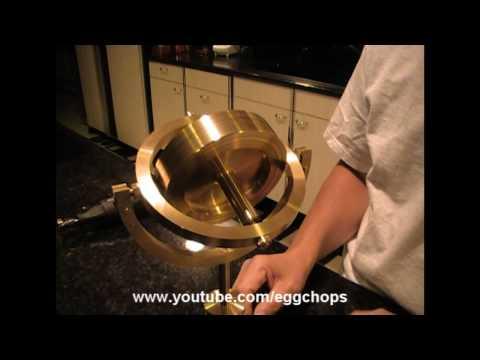 Large Brass Gyroscope Demonstration [HD]