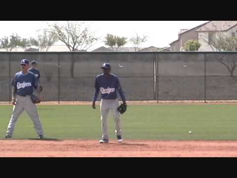 Dee Gordon - SS - Los Angeles Dodgers Infield Practice  Camelback Ranch 2011 Spring Training