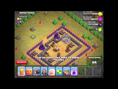 Clash of Clans: Rolling Terror #47 - 3 Star with TH 7 units - (Updated/New May 2014)