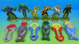 2014 DC COMICS SUPER VILLAINS Vs JUSTICE LEAGUE SET OF 6 SONIC DRIVE IN KID'S TOY'S VIDEO REVIEW