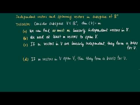 Math 2.9.5: Span, linear dependence and dimension
