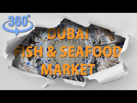 360 video | Deira Fish Market | Waterfront Market – DUBAI, UAE