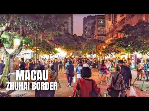 Macau Zhuhai Border China Walking Tour / 澳门珠海中国徒步旅行