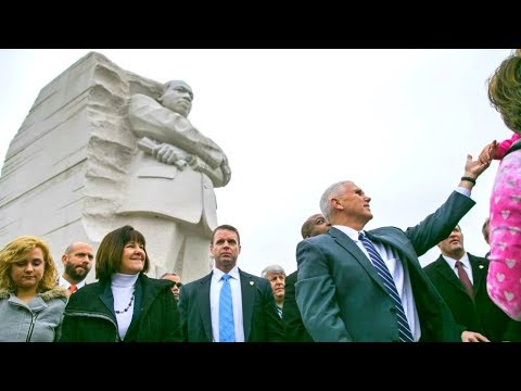 MLK DAY: Vice President Pence honoring at the Martin Luther King Jr Memorial