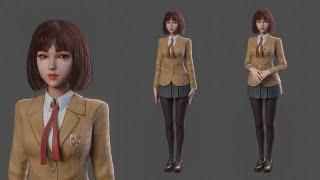 Blender - Girl In Uniform