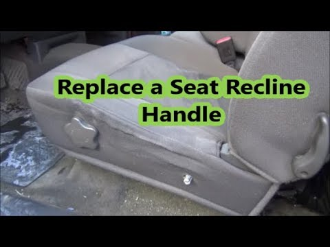 How to Replace the Seat Recline Handle on a Colorado / Canyon / Hummer