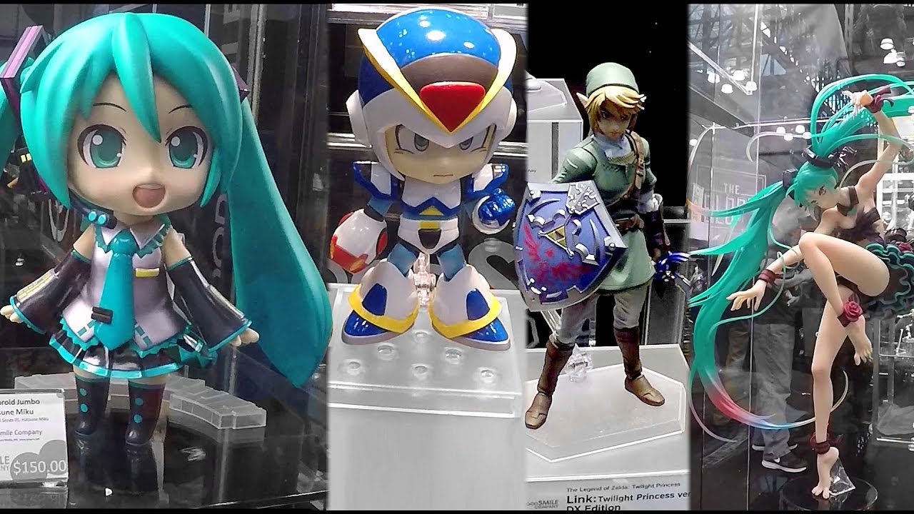 2016 New York Comic Con Good Smile Company Booth Tour NYCC Hatsune Miku Nendoroid Figures Anime Toys