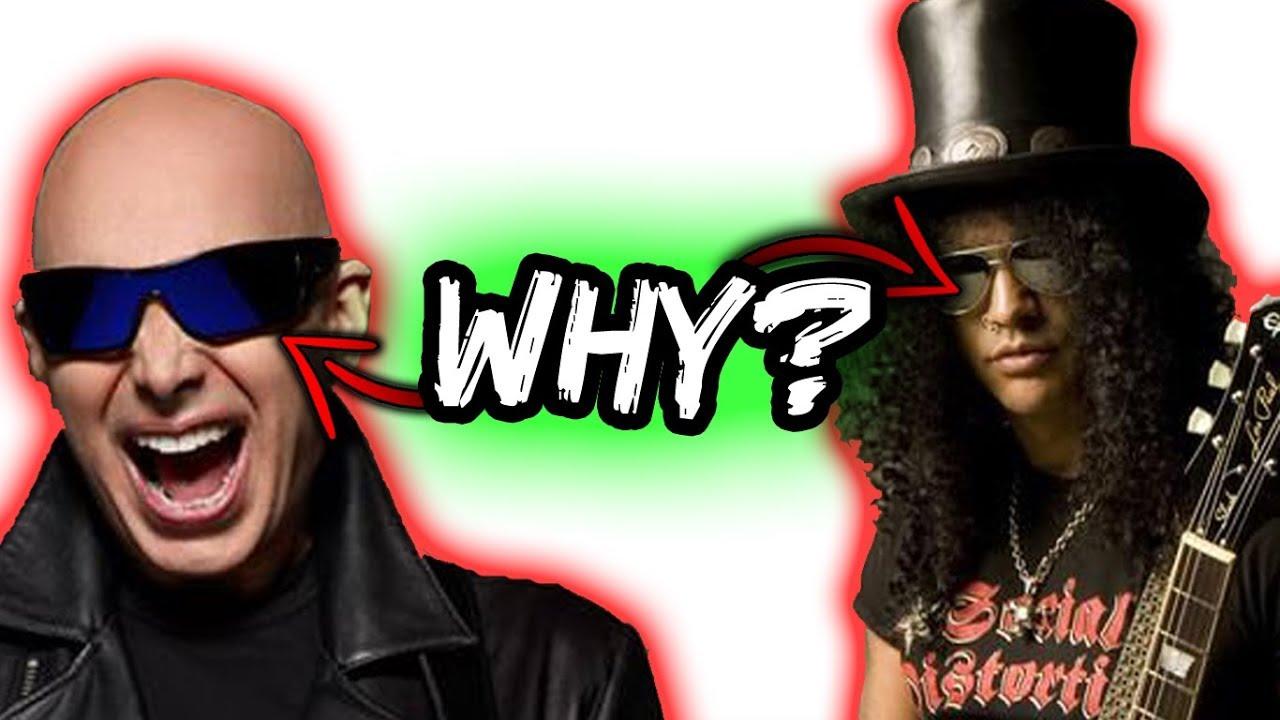 709fd9e9fd3 Satriani   Slash  Why We Always Wear Sunglasses - YouTube