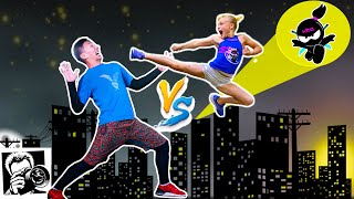 Ninja Kidz BATTLE in NYC! Photo Challenge with Jordan Matter!