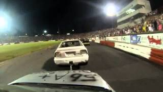 The Madhouse Chain Race Bowman Gray Stadium 8-8-15 In Car Camera 1st bgs Win