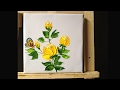 How to Paint  Roses in Acrylics with Palette Knife lesson 2