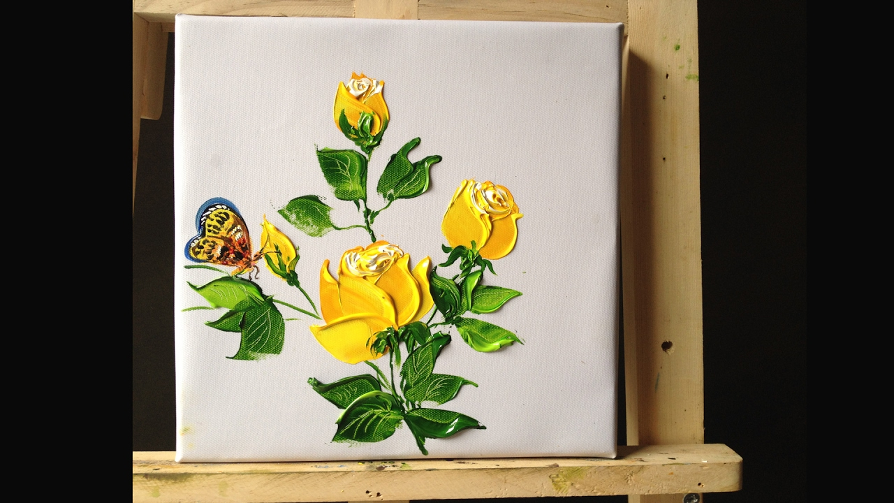 How to paint roses in acrylics with palette knife lesson 2 for How to paint with a palette knife with acrylics