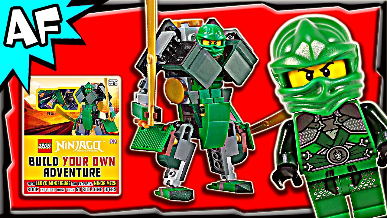 Lego Ninjago Lloyd S Green Mech Dk Book Build Your Own