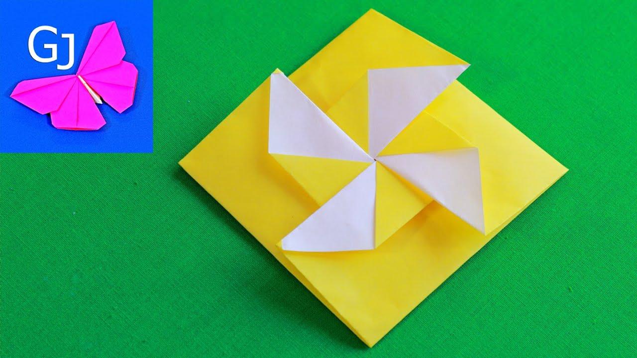 Оригами конверт видео