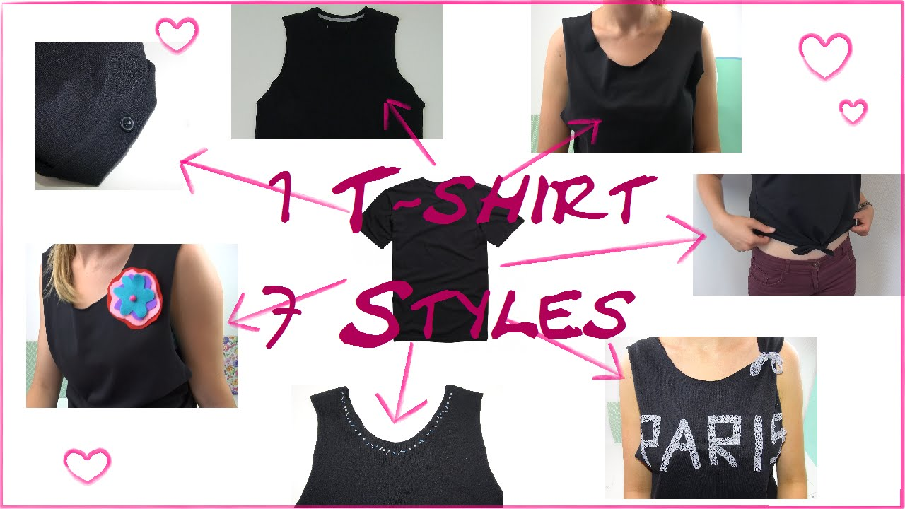 diy fashion 1 t shirt 7 styles mode tipps crop top tank top 7 ways to upcycle t shirts. Black Bedroom Furniture Sets. Home Design Ideas