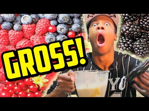 Smoothie Challenge! (CAUTION: GROSS FOOTAGE)