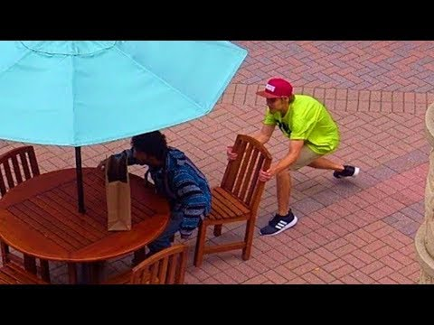 Chair Pulling Prank Part 4