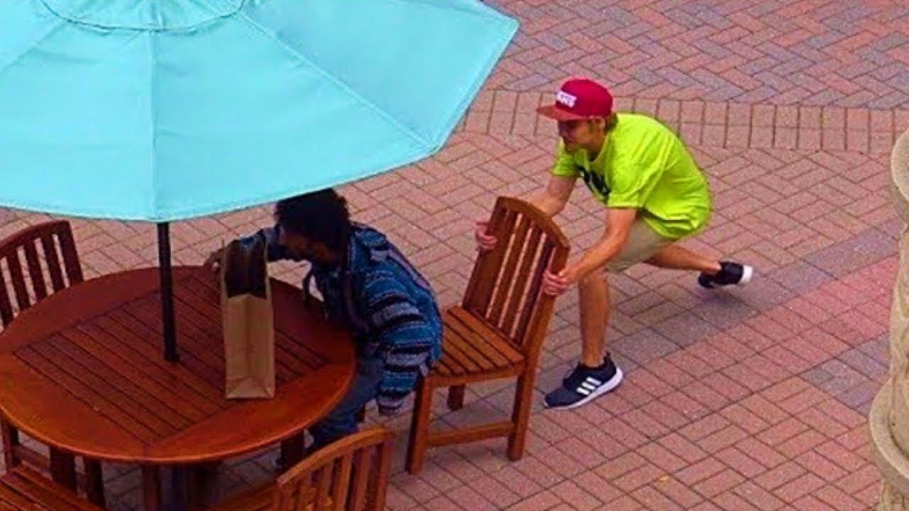 Chair Pulling Prank Part 4