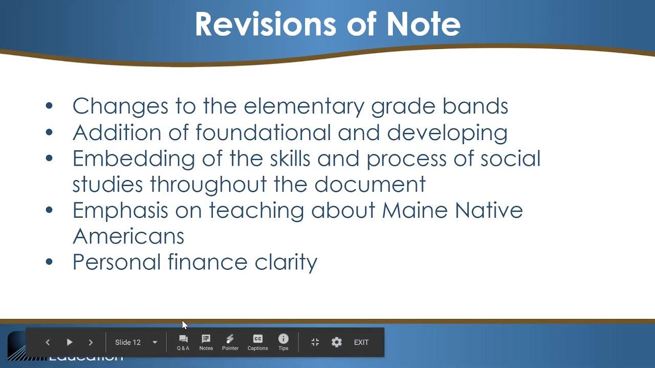 Standards & Instruction - Social Studies | Department of
