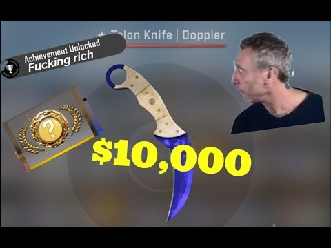 $10,000 Knife Unboxing!! - CSGO - Talon Knife Doppler