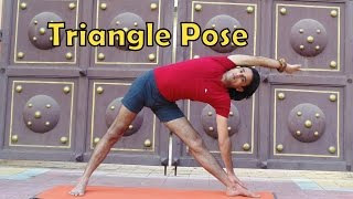 Triangle Pose   Trikonasana    2 Minutes Yoga Health for Beginners