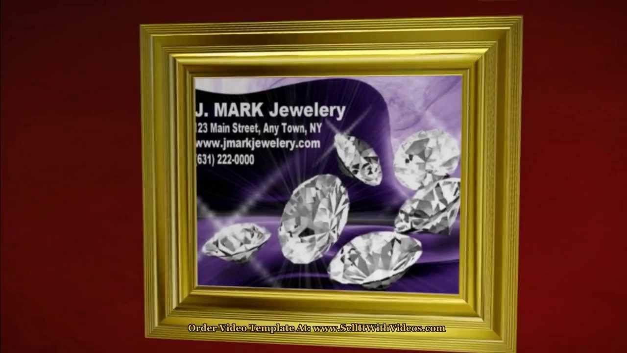 Video Marketing For Jewelry Stores With Video Templates Video ...