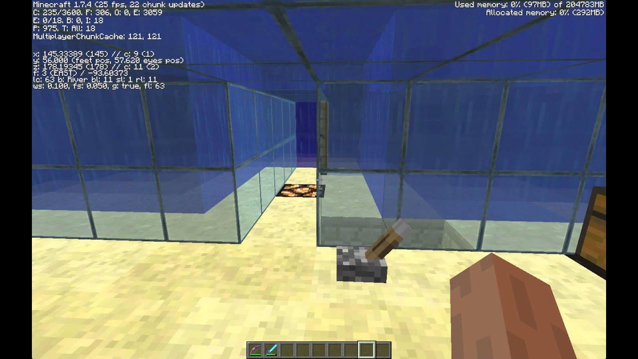 Simple Underwater Glass House Minecraft YouTube