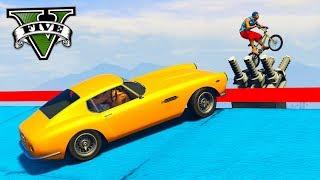 GTA V Online: PRIMEIRO PARKOUR BMX vs GT500 - O DUPLO MAPA!!!