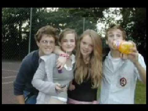 anna popplewell, emma watson and william moseley candid
