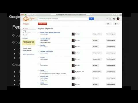 Training - Google Groups