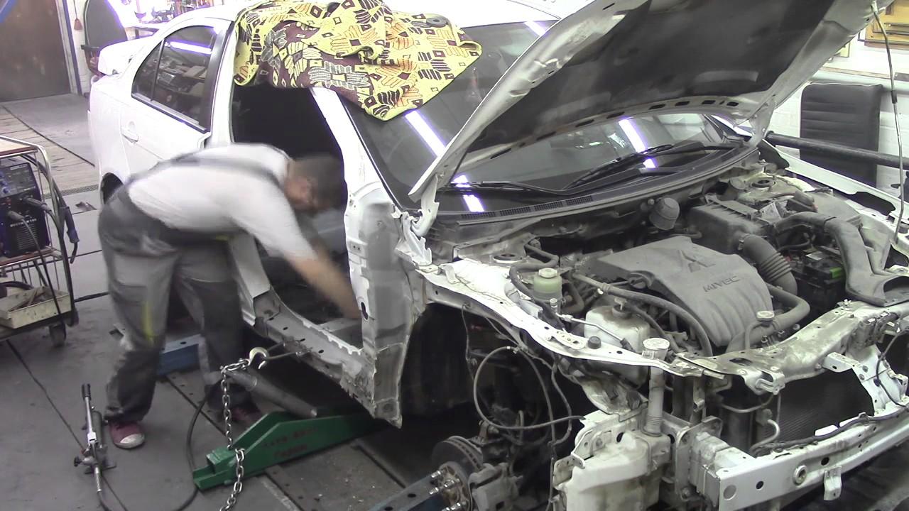 Кузовной ремонт. Мицубиси Лансер, делаем порог. Body repair.
