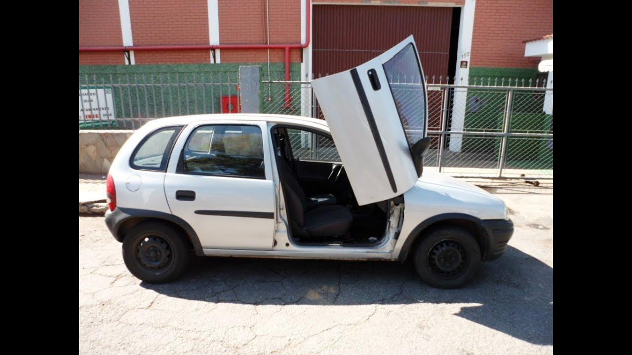 Corsa Hatch 99 Com Lambo Door Tuning Doors Portas Verticais Youtube