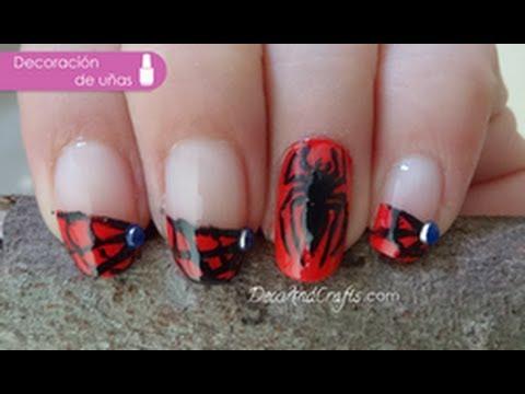 Nail Art Spiderman U 241 As Del Hombre Ara 241 A Youtube