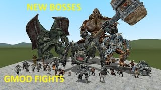 GMOD FIGHTS: NEW GIANT EPIC MONSTER BOSSES NPCS