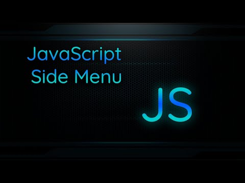 Creating A Side Navigation Menu With Hamburger Icon (HTML / CSS / JavaScript)