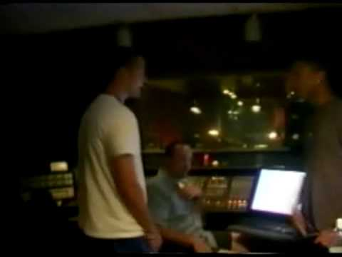 Justin and Pharrell Clowning in the Studio (Michael Jackson related)