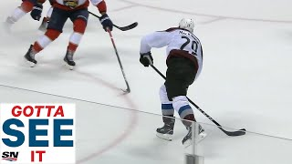 GOTTA SEE IT: Nathan MacKinnon Goes Bar Down vs. Florida Panthers In OT