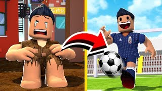 Die POOR BOY WHO TURNED PROFESSIONAL FOOTBALL PLAYER in ROBLOX! Wolfie