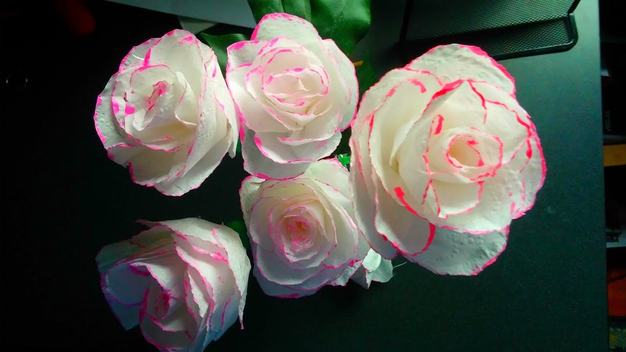 How to make toilet paper rose flower with wrapping method diy how to make toilet paper rose flower with wrapping method diy toilet paper rose youtube mightylinksfo