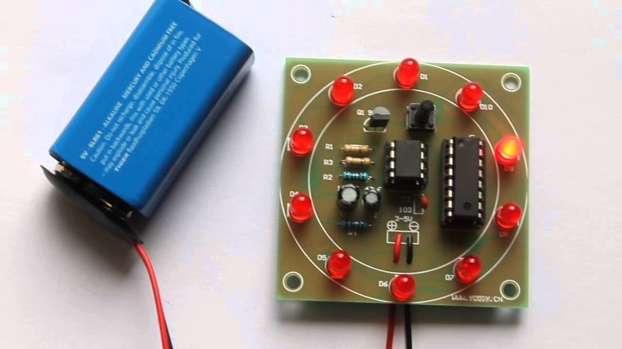 Lucky Number Led Chaser Using Ne555 And Cd4017 Buildcircuit Electronic Circuits For Beginners Buildcircuitnet