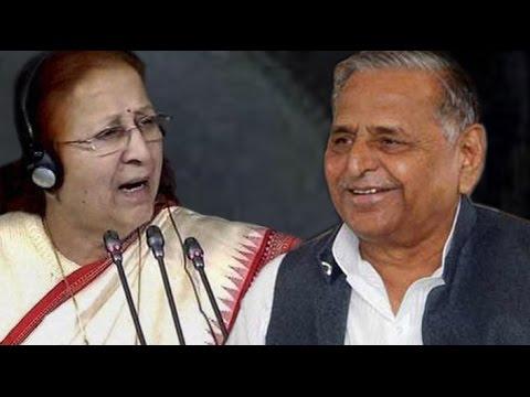 Lok Sabha: SP leader Mulayam Singh Yadav and speaker exchange words