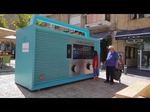 Video testing Samsung galaxy 8 4k (Giant RADIO in Jerusalem)