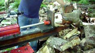 3pt. Mounted Wood Splitter In Action.
