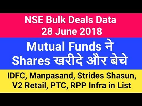 bulk deals mutual funds
