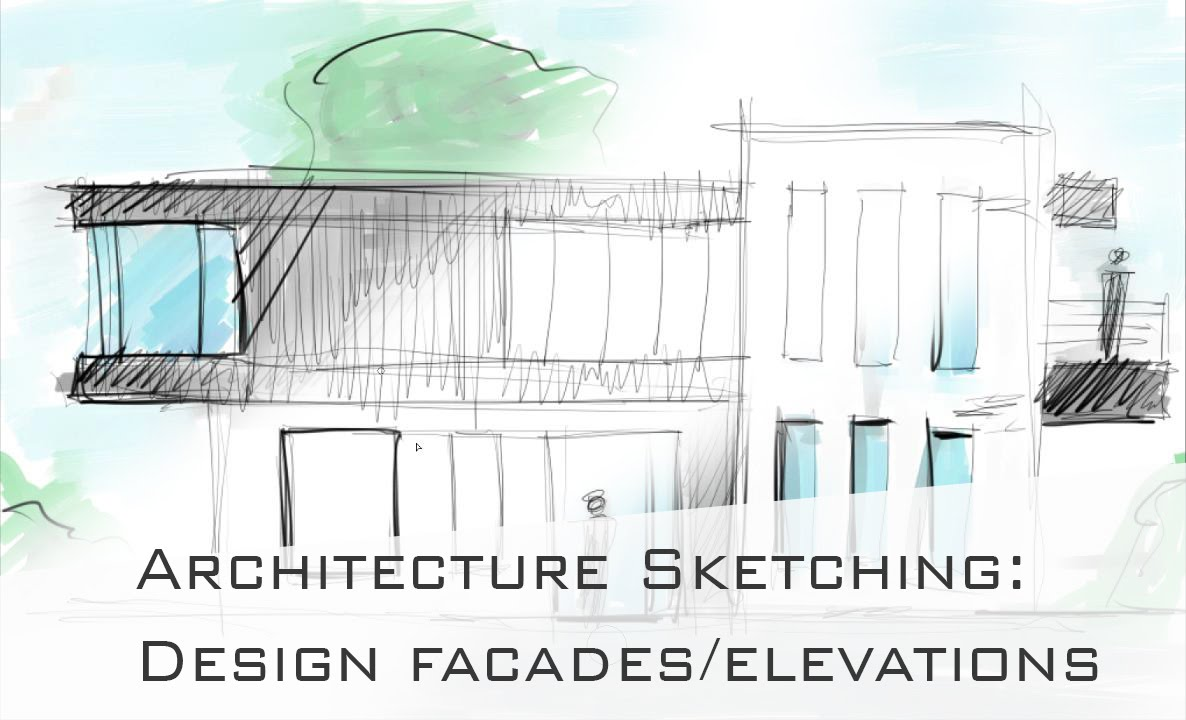 Architecture sketching 4 how to design draw cool facades for Online architecture drawing