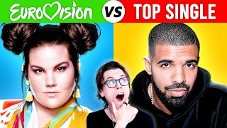 EUROVISION Winners vs TOP SELLING Songs of the same year